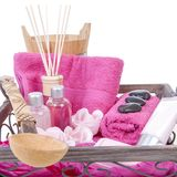 Pink spa accessories Royalty Free Stock Image