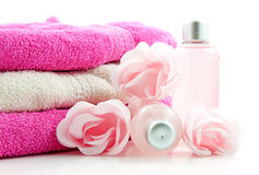 Pink spa accessory Royalty Free Stock Image