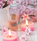Pink spa arrangement Royalty Free Stock Images