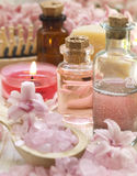 Pink spa arrangement Stock Photography