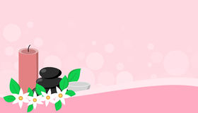 Pink Spa banner design Royalty Free Stock Photo