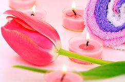 Pink spa set Royalty Free Stock Images