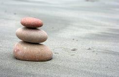 Pink spa stones stock photo
