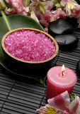 Pink spa zout Stock Fotografie