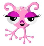 Pink Space Monster On White Royalty Free Stock Photos