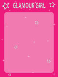 Pink sparkle frame Royalty Free Stock Photo