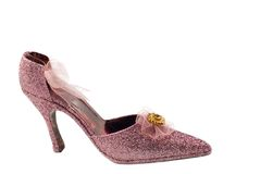 Pink Sparkle High Heel Shoe Royalty Free Stock Photo