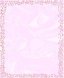 Pink Sparkling Border. A star Christmas encrusted page border Stock Photos
