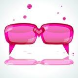 Pink speech bubbles. stock photos