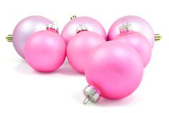 Pink spheres. Seven pink spheres on the white background Stock Photos