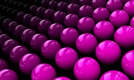 Pink spheres Stock Images