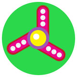 Pink spinner with white balls Royalty Free Stock Photos