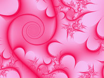 Pink Spiral Background Stock Photos