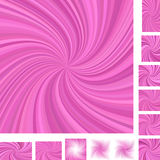 Pink spiral background set Stock Photography