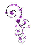 Pink spiral ornament Royalty Free Stock Photo