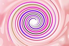 Pink spiral rainbow background Stock Image