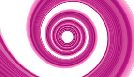 Pink spiral on white Royalty Free Stock Photo