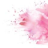 Pink splash. Vector watercolor pink background. Colorful abstract texture. Vector watercolor splash Stock Illustration