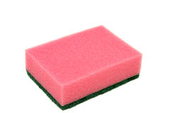 Pink sponge Royalty Free Stock Photos