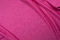 Pink sport fabric texture Royalty Free Stock Photos