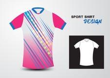 Pink sport shirt design vector illustration Stock Photo