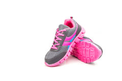 Pink sport shoe isolated on white background Stock Photography