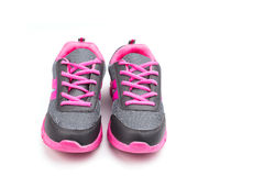 Pink sport shoe isolated on white background Stock Images