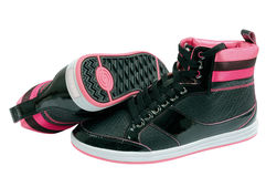 Pink sport shoes royalty free stock image