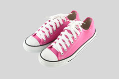 Pink sport shoes Stock Images