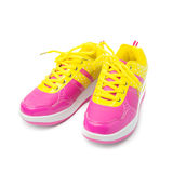 Pink sport shoes Royalty Free Stock Photo