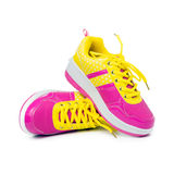 Pink sport shoes Royalty Free Stock Photos