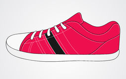 Pink sport sneakers. Pink white sport sneakers running walking vector illustration