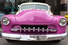 Pink Sports Coup Front Royalty Free Stock Image