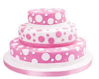 Pink spotted sugar paste cake Stock Photography