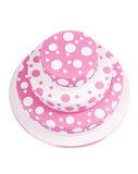 Pink spotted sugar paste cake Royalty Free Stock Photos
