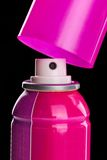 Pink spray aerosol Stock Photography