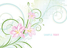 Pink spring flowers. Delicate pink spring flowers. Vector Royalty Free Stock Image