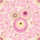 Pink spring pattern Stock Photo