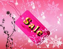Pink spring sales label Royalty Free Stock Photo