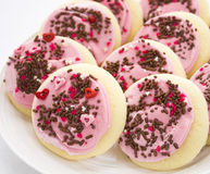 Pink Sprinkles Cookies Stock Images