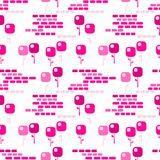Pink Square Flowers Seamless Background Royalty Free Stock Photo