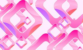 Pink square frames. Vector art illustration royalty free illustration