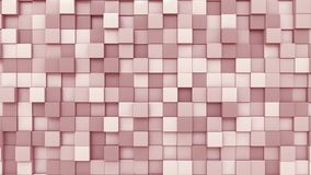 Pink Square Plates Background, 3D Rendering Stock Image