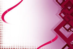 Pink square right side, abstrack background Stock Images