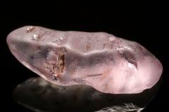 Pink Sri Lanka Gemstone. Rough sapphire from Ratnapura mining area in Sri Lanka Royalty Free Stock Photo