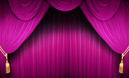 Pink stage theater Stock Photo