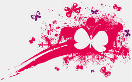 Pink Stain And Butterflies Stock Photography