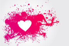 Pink Stain And Heart Royalty Free Stock Photos