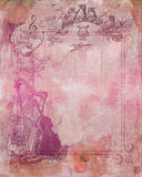 Pink Stained textured paper Stock Photo