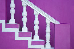 Pink staircase Royalty Free Stock Photo